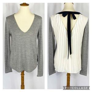 Bailey 44 Merino Wool Tie Back long Sleeve Top
